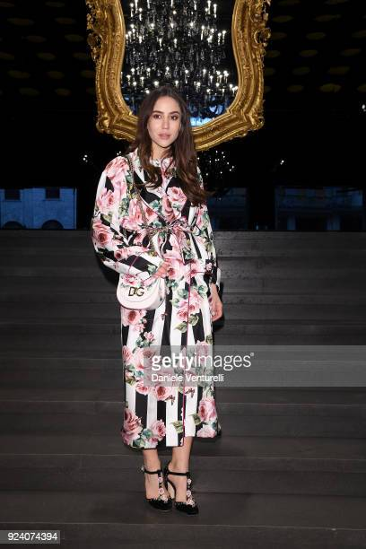 Tamara Kalinic attends the Dolce Gabbana show during Milan Fashion Week Fall/Winter 2018/19 on February 25 2018 in Milan Italy