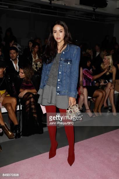 Tamara Kalinic attends the Emilio de la Morena show during London Fashion Week September 2017 on September 19 2017 in London England