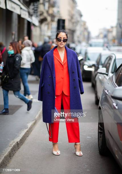 Tamara Kalinic attends the Ermanno Scervino show at Milan Fashion Week Autumn/Winter 2019/20 on February 23 2019 in Milan Italy