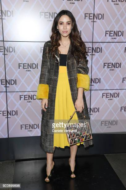 Tamara Kalinic attends the Fendi show during Milan Fashion Week Fall/Winter 2018/19 on February 22 2018 in Milan Italy