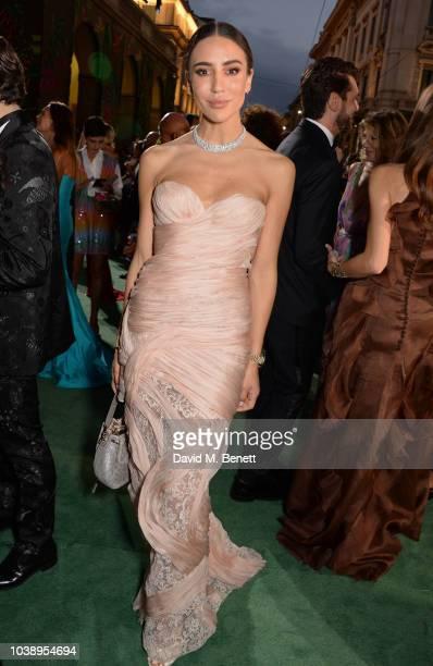 Tamara Kalinic attends The Green Carpet Fashion Awards Italia 2018 at Teatro Alla Scala on September 23 2018 in Milan Italy