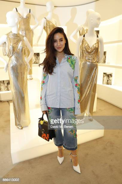 Tamara Kalinic attends the launch of the new Versace Sloane Street store on December 5 2017 in London England