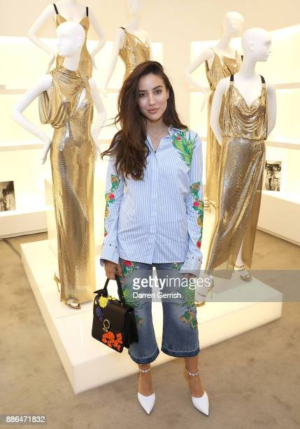 Tamara Kalinic attends the Versace Boutique Opening on Sloane Street on December 5 2017 in London England