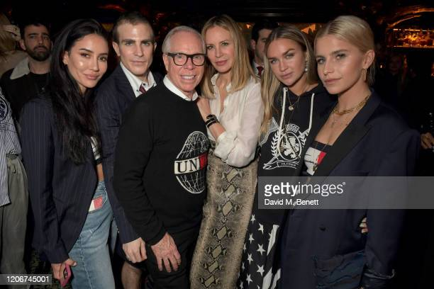 Tamara Kalinic Carlo Sestini Tommy Hilfiger Dee Ocleppo Nina Suess and Caroline Daur attend the TOMMYNOW after party at Annabels on February 16 2020...