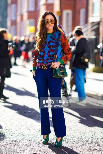 Tamara Kalinic during London Fashion Week February 2018 on February 17 2018 in London England