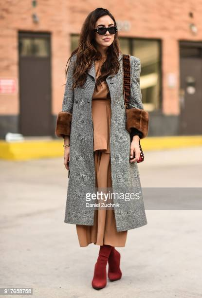 Tamara Kalinic is seen outside the 31 Phillip Lim show during New York Fashion Week Women's A/W 2018 on February 12 2018 in New York City