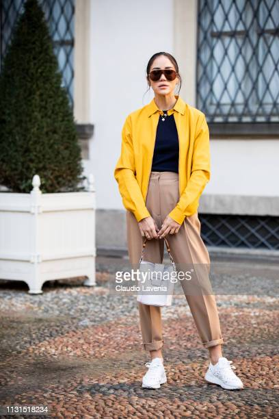 Tamara Kalinic is seen outside Tod's on Day 3 Milan Fashion Week Autumn/Winter 2019/20 on February 22, 2019 in Milan, Italy.