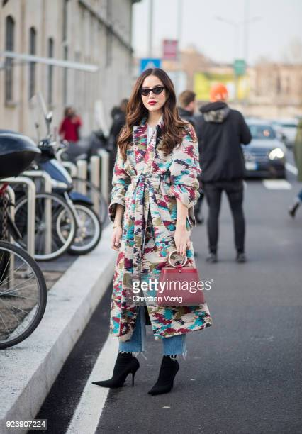 Tamara Kalinic seen outside Missoni during Milan Fashion Week Fall/Winter 2018/19 on February 24 2018 in Milan Italy
