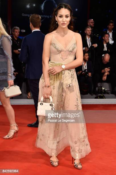 Tamara Kalinic walks the red carpet ahead of the 'Three Billboards Outside Ebbing Missouri' screening during the 74th Venice Film Festival at Sala...