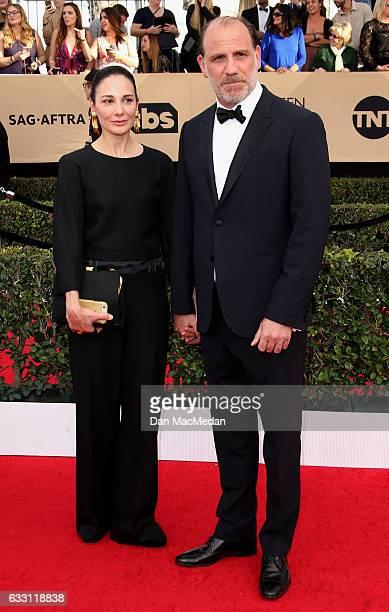 Tamara MalkinStuart and actor Nick Sandow arrive at the 23rd Annual Screen Actors Guild Awards at The Shrine Expo Hall on January 29 2017 in Los...