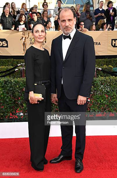 Tamara MalkinStuart and actor Nick Sandow attend The 23rd Annual Screen Actors Guild Awards at The Shrine Auditorium on January 29 2017 in Los...