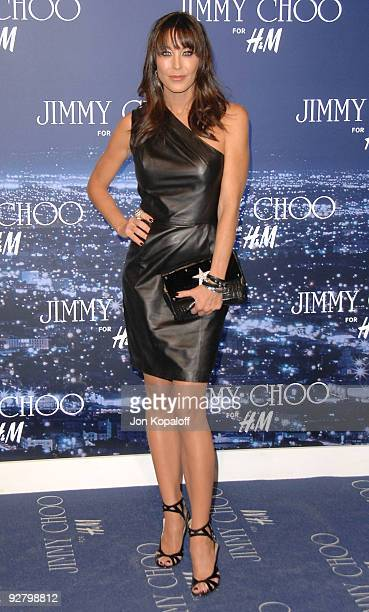 43a39c6df100 Tamara Mellon arrives at the Jimmy Choo for HM Collection private event in  support of the