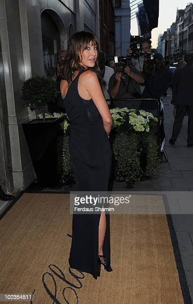 Tamara Melon attends the launch party for Diane von Furstenberg's new interior design project with Claridges at Claridges Hotel on June 23 2010 in...