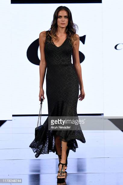 Tamara Milicevic walks the runway during CARMEN STEFFENS At New York Fashion Week Powered by Art Hearts Fashion NYFW September 2019 at The Angel...