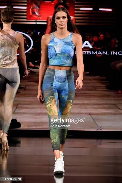 Tamara Milicevic walks the runway during IG MODA at New York Fashion Week Powered by Art Hearts Fashion at The Angel Orensanz Foundation on September...