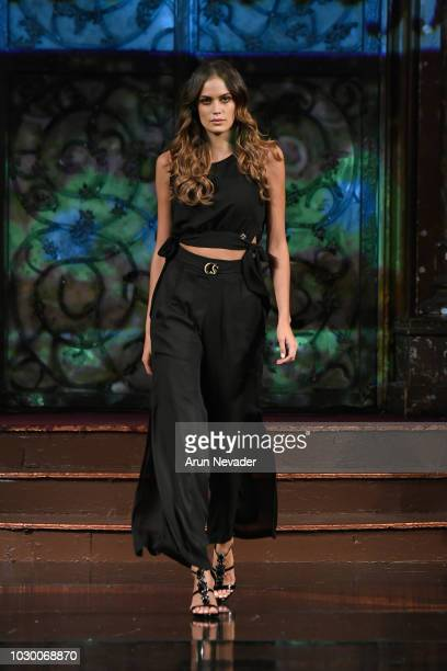 Tamara Milicevic walks the runway during the CARMEN STEFFENS show at New York Fashion Week Powered By Art Hearts Fashion at The Angel Orensanz...