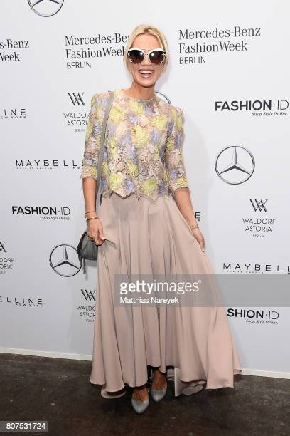 Tamara Nayhauss attends the Ewa Herzog show during the MercedesBenz Fashion Week Berlin Spring/Summer 2018 at Kaufhaus Jandorf on July 4 2017 in...