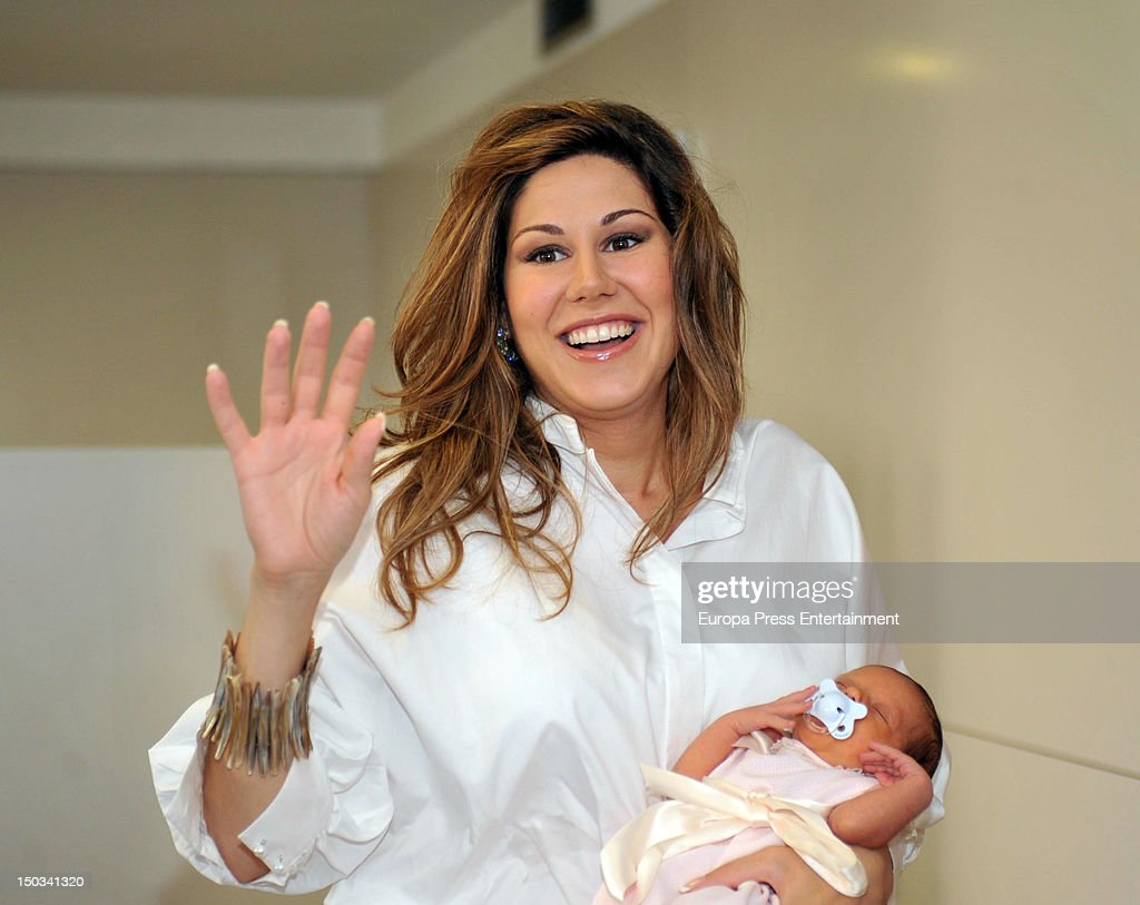 Tamara presets her new born baby Valentina on August 14
