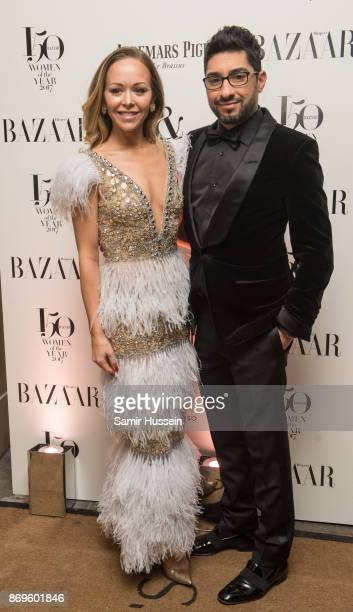 Tamara Ralph and Michael Russo arrive at the Harper's Bazaar Woman Of The Year Awards held at Claridges Hotel on November 2 2017 in London England