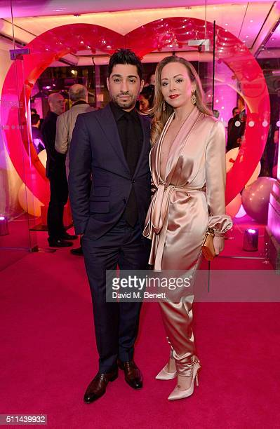 Tamara Ralph and Michael Russo at The Naked Heart Foundation's Fabulous Fund Fair in London at Old Billingsgate Market on February 20 2016 in London...