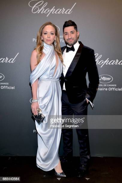 """Tamara Ralph and Michael Russo attend the Chopard """"SPACE Party"""" hosted by Chopard's copresident Caroline Scheufele and Rihanna at Port Canto on May..."""