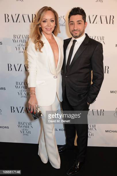 Tamara Ralph and Michael Russo attend the Harper's Bazaar Women Of The Year Awards 2018 in partnership with Michael Kors and MercedesBenz at...