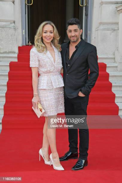 Tamara Ralph and Michael Russo attend the opening night of Film4 Summer Screen at Somerset House featuring the UK Premiere of Pain And Glory on...