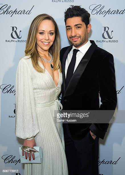 Tamara Ralph and Michael Russo attend the Ralph Russo and Chopard dinner during part of Paris Fashion Week on January 25 2016 in Paris France