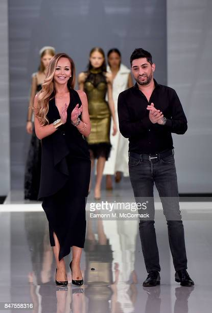 Tamara Ralph and Michael Russo walk the runway at the Ralph Russo Spring/Summer 2018 Ready to Wear show at Old Billingsgate on September 15 2017 in...