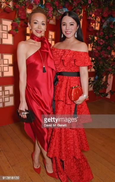 Tamara Ralph and Wendy Yu attend Wendy Yu's Chinese New Year Celebration at Kensington Palace on January 31 2018 in London United Kingdom
