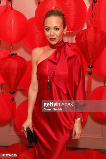 Tamara Ralph attends the Wendy Yu's Chinese New Year celebration at Kensington Palace on January 31 2018 in London England