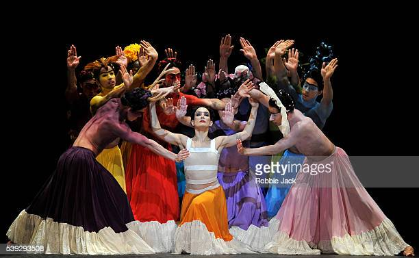 Tamara Rojo as Frida Khalo with artists of the company in English National Ballet's production of Annabelle Lopez Ochoa's Broken Wings at Sadlers...
