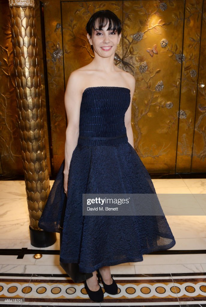 Tamara Rojo attends a drinks reception at the South Bank Sky Arts awards at the Dorchester Hotel on January 27, 2014 in London, England.