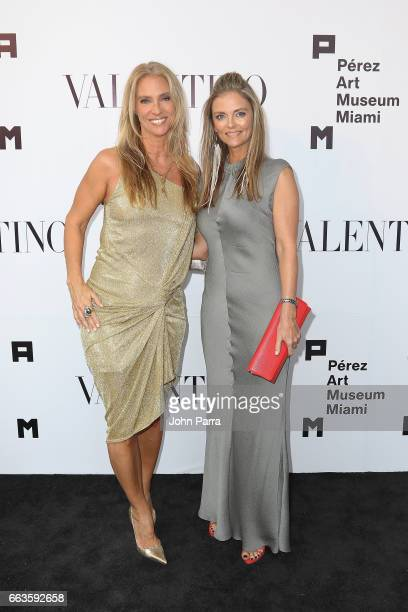 Tamara Schwartz and guest at PAMM Art Of The Party Presented By Valentino at Perez Art Museum Miami on April 1 2017 in Miami Florida
