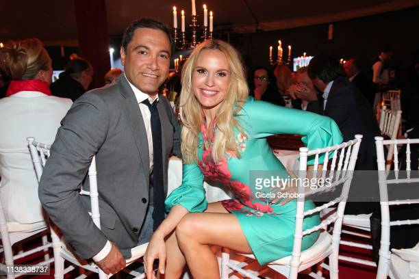 Tamara Sedmak and her partner Nader NaeymiRad during the FCR EAGLES Masters Toscana golf tournament Dinner of FalkRaudies FCR Immobilien AG at Hotel...