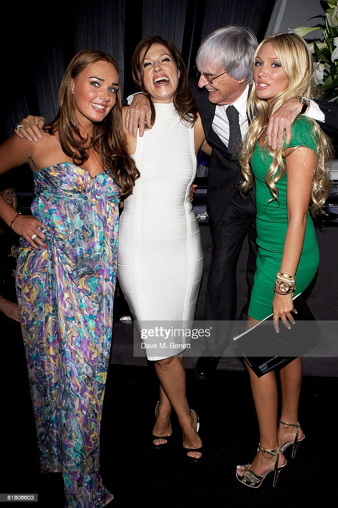 Tamara, Slavica, Bernie and Petra Ecclestone attend the F1 Party in aid of the Great Ormond Street Hospital, at the Bloomsbury Ballroom on July 2, 2008 in London, England.