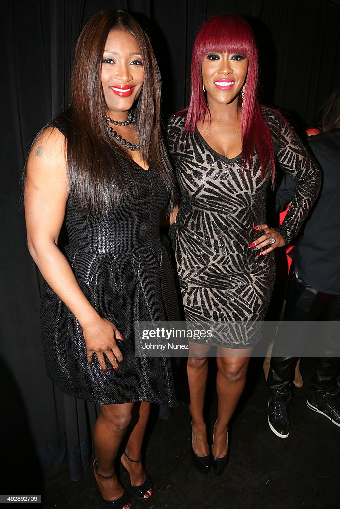 Tamara 'Taj' George and Cheryl 'Coko' Clemons of SWV attend the 'SWV Reunited' series premiere at Jazz Room at the General on January 15, 2014 in New York City.