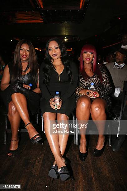 Tamara 'Taj' George Leanne 'Lelee' Lyons and Cheryl 'Coko' Clemons of SWV attend the 'SWV Reunited' series premiere at Jazz Room at the General on...
