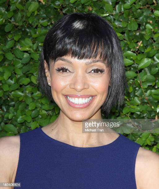Tamara Taylor arrives at The Rape Foundation's Annual Brunch held at Ron Burkle's Green Acres Estate on September 29 2013 in Beverly Hills California