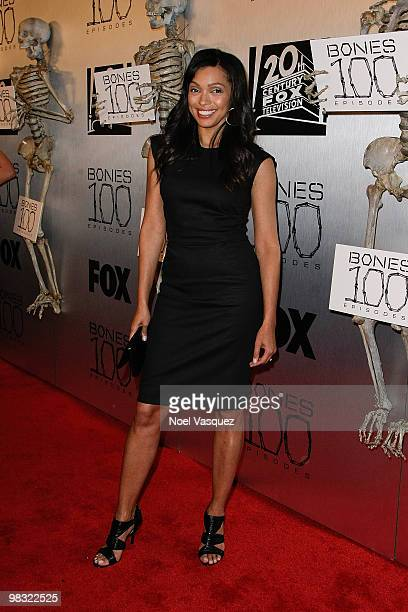 Tamara Taylor attends the 'Bones' 100th episode celebration at 650 North on April 7 2010 in West Hollywood California