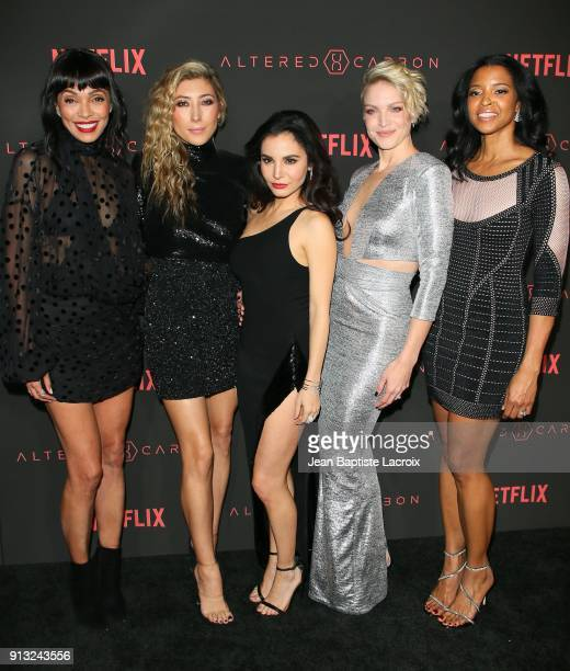 Tamara Taylor Dichen Lachman Martha Higareda Kristin Lehman and Renee Elise Goldsberry attend the World Premiere of the Netflix Original Series...