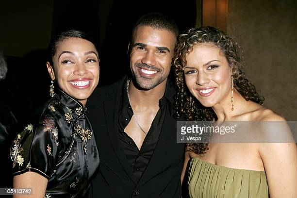 """Tamara Taylor, Shemar Moore and Lisa Marcos during Tyler Perry's """"Diary of a Mad Black Woman"""" Los Angeles Premiere - After Party at The Sunset Room..."""