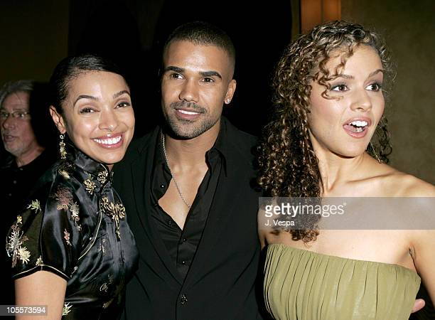 Tamara Taylor Shemar Moore and Lisa Marcos during Tyler Perry's Diary of a Mad Black Woman Los Angeles Premiere After Party at The Sunset Room in Los...