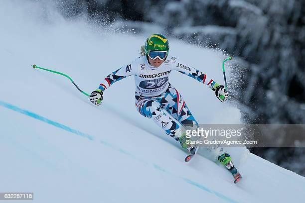 Tamara Tippler of Austria competes during the Audi FIS Alpine Ski World Cup Women's Downhill on January 21 2017 in GarmischPartenkirchen Germany