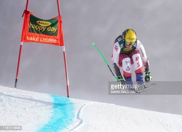 Tamara Tippler of Austria gets air at Claire's Corner before finishing in sixth place in the 1st Women's Super-G final during the Audi FIS Ski World...