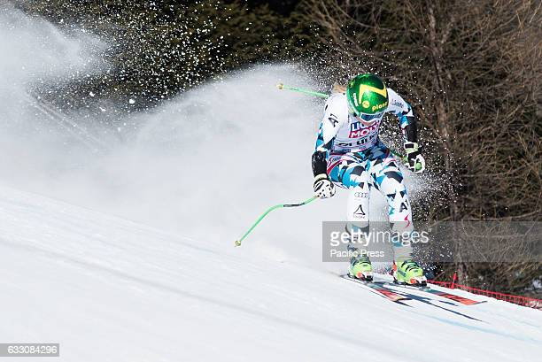 AMPEZZO ITALY CORTINA D'AMPEZZO DOLOMITES ITALY Tamara Tippler of Austria on the course during the SuperG race in Cortina dAmpezzo