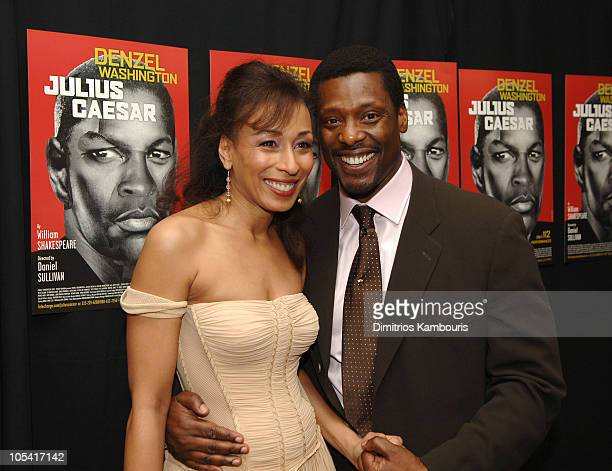 """Tamara Tunie and Eamonn Walker during """"Julius Caesar"""" Broadway Opening Night - After Party at Gotham Hall in New York City, New York, United States."""