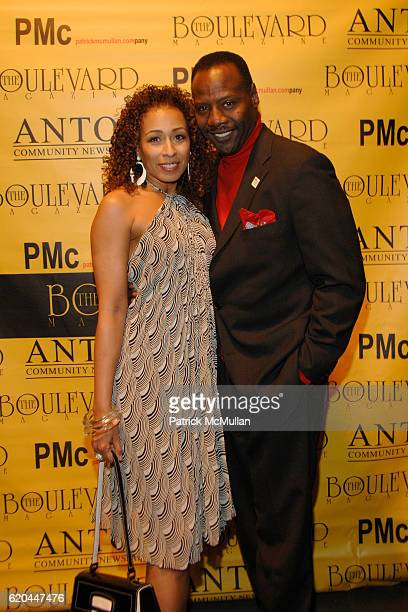 Tamara Tunie and Gregory Generet attend BOULEVARD MAGAZINE Celebrates their April Issue at Hawaiian Tropic Zone on April 14 2008 in New York City