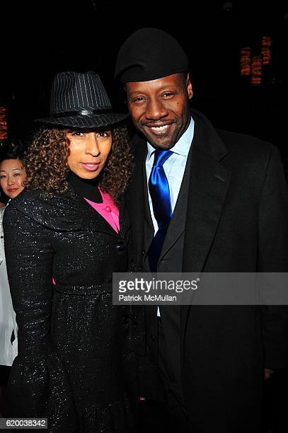 Tamara Tunie and Gregory Generet attend CADILLAC RECORDS afterparty at Marquee NYC on December 1 2008