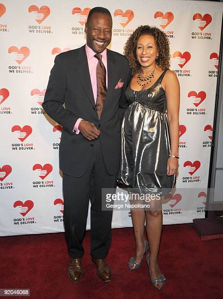Tamara Tunie and Gregory Generet attends the 2009 Golden Heart awards at the IAC Building on October 19 2009 in New York City